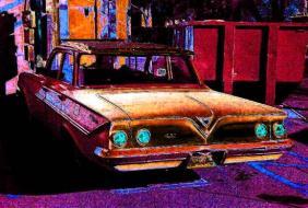 35mm chevy sedan