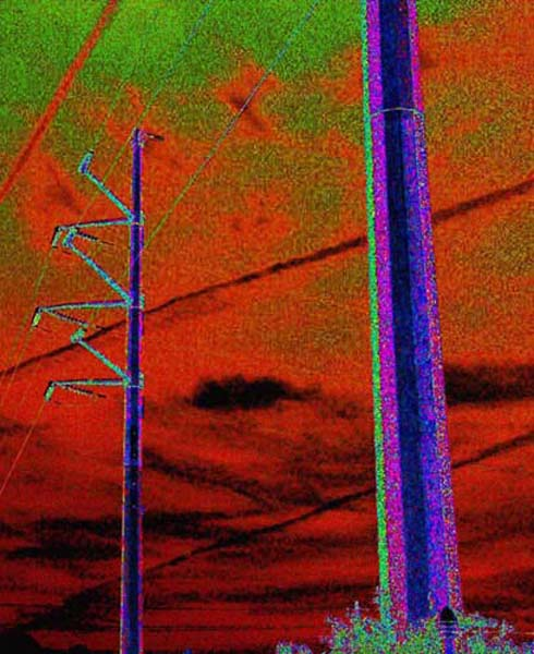35mm jet streaks and power lines